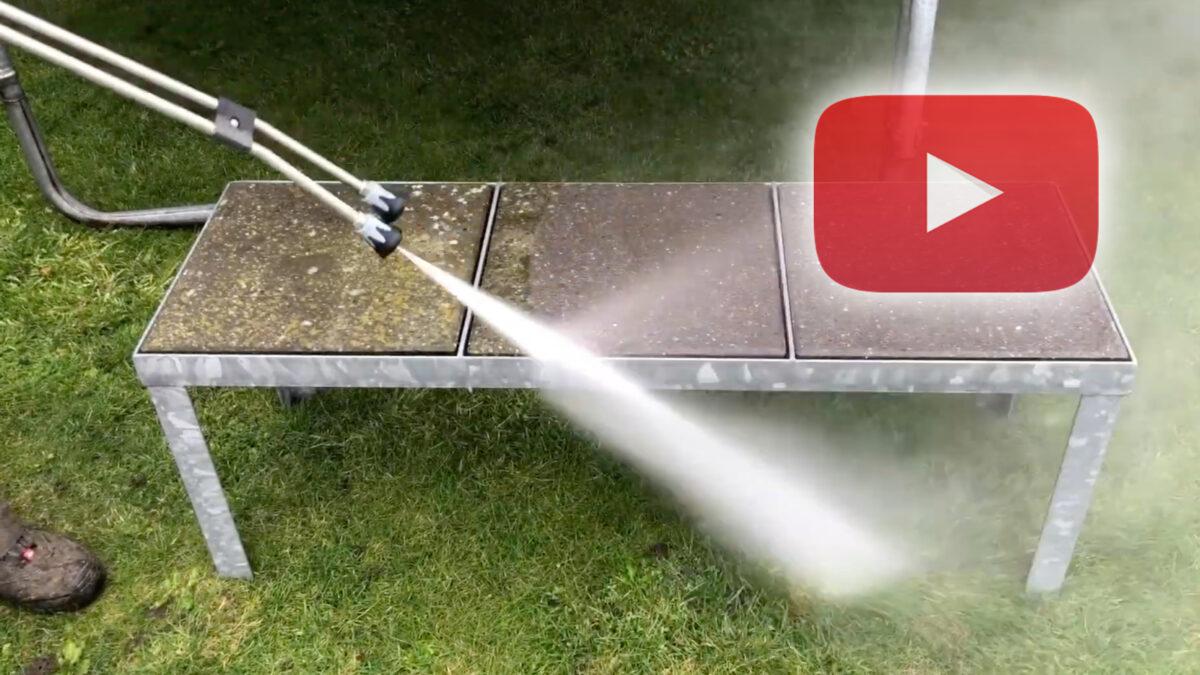 Fjern effektivt alger fra beton